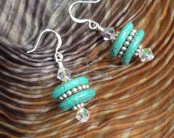 Tibetan Turquoise Earrings N-122