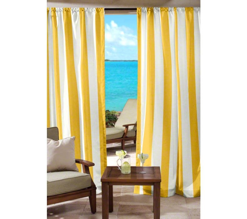 Yellow And White Striped Curtains Custom By Grandviewdrapes