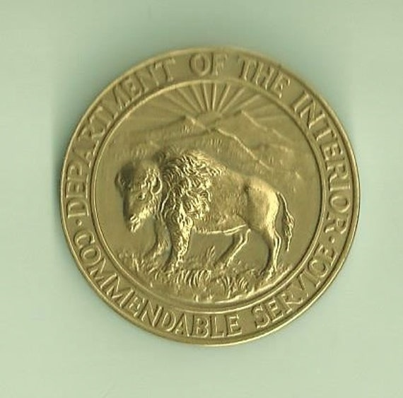 Department Of The Interior Commendable Service Award Me1817026