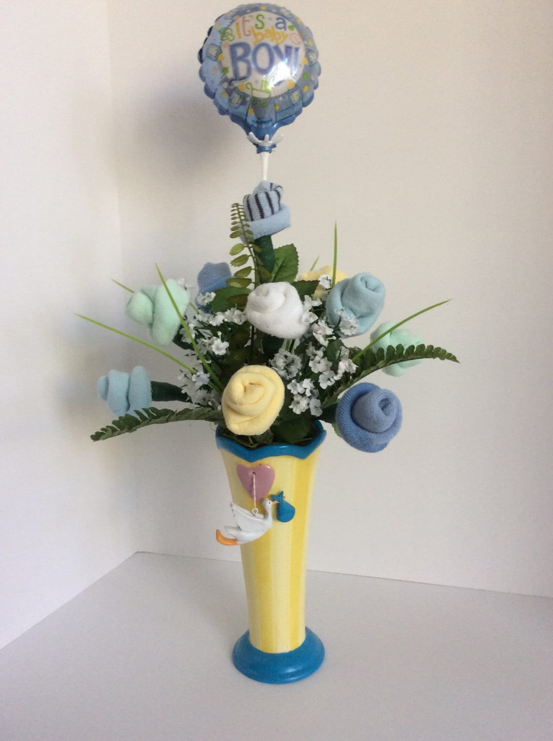Baby Boy Gifts Flowers : Baby shower decoration boy gift flower
