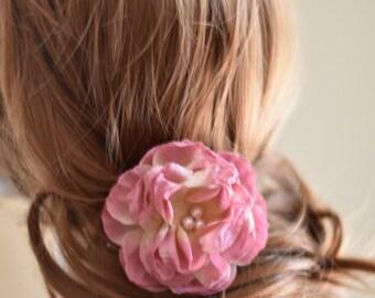 Bridal Headpiece, rose hair pin, rose hair comb, wedding hair piece, wedding headpiece, wedding hair comb, floral headpiece, floral hair pin