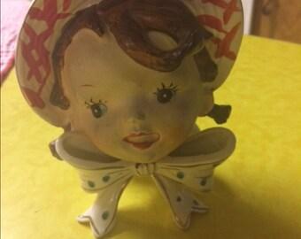 Girl Head Vase Etsy