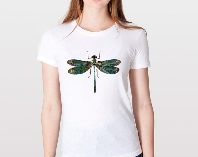KillerBeeMoto: 1845 Color Lithograph Dragonfly Drawing T-Shirts & Tank Top