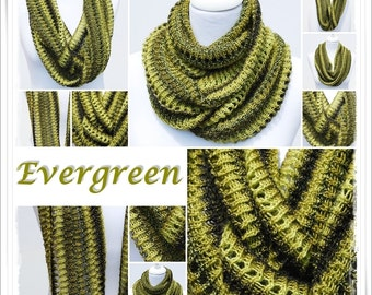 Knitting Pattern Cowl Evergreen