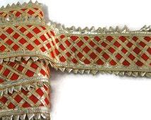 Gota Indian Gota Patti Lace Saree Gota Patti Border Gota Patti work Trim-Width 5.5 cm-Price for 1 Yard-IDL194