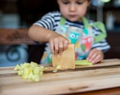 Safe wooden knife for kids, kitchen toy, vegetable and fruits cutter, eco-friendly gift for children