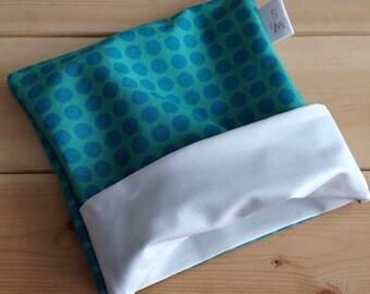 Blue polkadot reusable snack bag