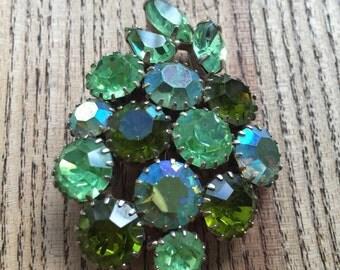 1950's Green Brooch