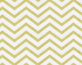 White and Gold Chevron Fabric - By The Yard - Girl / Boy / Gender Neutral