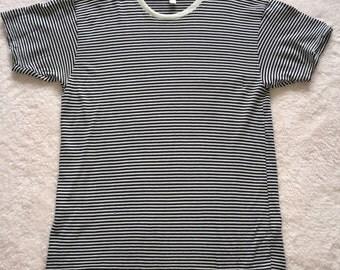 navy and white stripe tshirt / medium