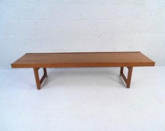 Danish Modern Teak Coffee Table Or Bench By Bruksbo P8300896rj