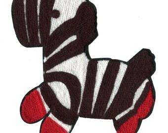 Large 17cm Chenille Zebra Patch