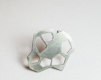 Geometric Pin, Contemporary Brooch