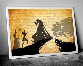 Harry Potter Art Deathly Hallows Art Harry Potter Print Deathly Hallows Print Harry Potter Poster Deathly Hallows Poster Harry Potter Gift