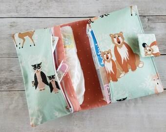 Hello Bear Diaper Clutch | Diaper Bag | Diaper Wipes Bag | Diaper Wipes Clutch | Wrap Clutch | Diaper Changing Kit | Baby Shower Gift Idea