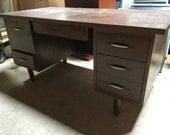 "Vintage Mid century Desk 60"" w"