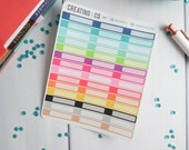 Functional Icon Label Blank Sticker Set for Variety of Planners - IC17