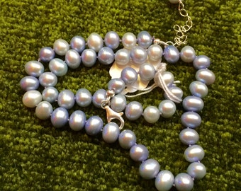 BLUE FRESHWATER PEARLS