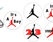 Airman Chocolate Candy Baby Shower Labels Assorted
