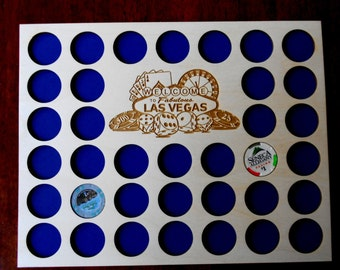 Engraved Poker Chip Frame Display Insert Life is a Journey