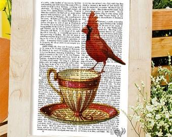 Red Cardinal Bird Etsy