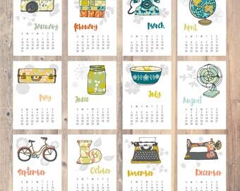 2016 Desk Calendar | A Vintage Year | ON SALE (20% off)