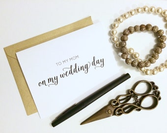 Card - To My Mom On My Wedding Day | Wedding Card, Parents Wedding Card, Mother of the Bride Card, Mother In Law Card, Wedding Party