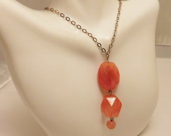 Sterling Silver Pink Quartz Necklace