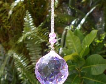 Beaded Crystal Sun Catcher - Feng Shui, Negative Energy, Karma, Magic, Window, Crystal, Crystal Ball, Disco Ball, Window, Gift