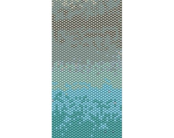 Blue Ombre Peyote Cuff Beaded Bracelet Pattern