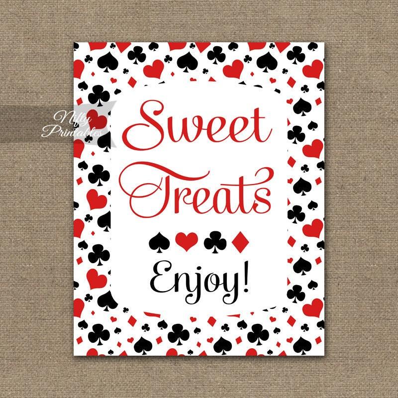 Sweet Treats Sign Printable Casino Dessert Table Signs