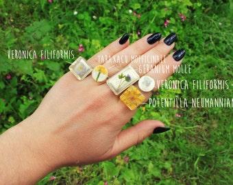 Pressed Flowers Resin Ring
