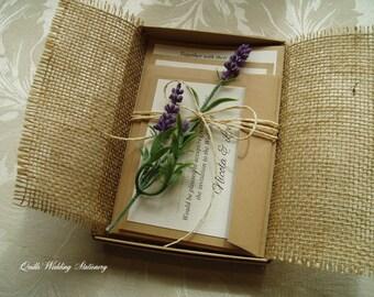 Boxed invitation Etsy