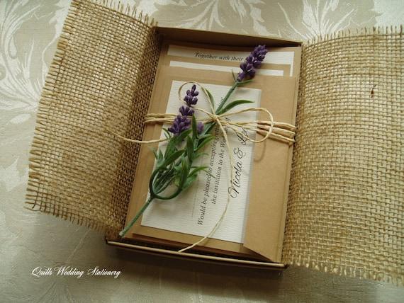 Rustic Romantic Wedding Invitations: Rustic Romance. Country Style Wedding Invitation. Boxed