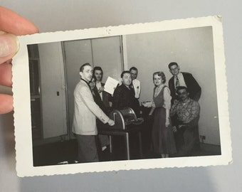 VINTAGE PHOTOGRAPH of MEN, vintage black and white picture, group photograph, picture of men with moustache, black and white group photo