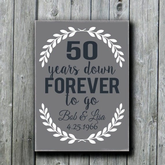 50 Wedding Anniversary Gifts: Items Similar To 50th Anniversary Gift, Grandparents