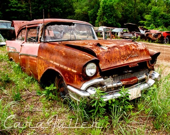 Pink & Rusty 1957 Chevy Bel Air Photograph