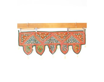 Indian mirror work tapestry (0005) Wall Hanging Tapestry Ethnic tapestry Mirror work India Indian mirror work wall han