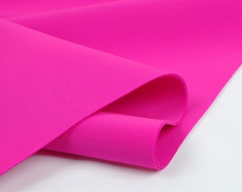 Neoprene Fabric Pink By The Yard