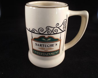 Sartuche's Entertainment Beer Stein Mugs, Vintage Collector Mugs