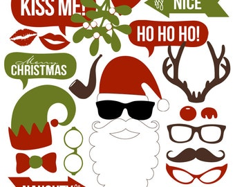 Christmas Photo Booth Props Collection – Printable Instant Download – Great for Holiday Parties, School Parties, and Ugly Sweater Parties!
