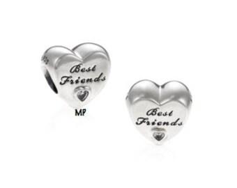 Authentic Pandora  Friendship Heart Charm  791727CZ