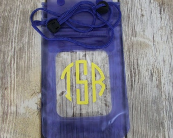 Keep it Dry Pouch, Waterproof Pouch, Monogrammed Keep It Dry Pouch, Boat, Pool, Lake, Beach