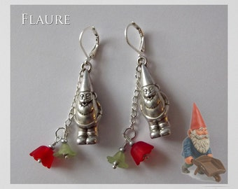 "Earrings ""Garden Gnome"" silver"