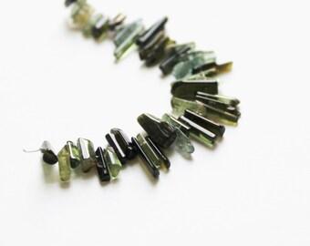 Green Tourmaline beads destash