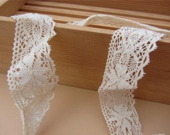 Fine Cotton Thread Crochet Lace ribbon-LSC012-2.8cm cotton rose ribbon