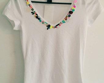 Handmade sequin T-shirt