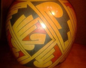 LARGE / HEAVY Superb 1980 Mata Ortiz Clay Pot