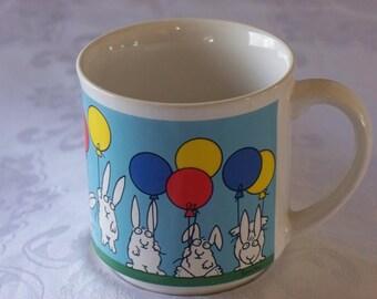 Sandra Boynton Bunnies And Balloons Mug VGC