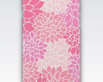 iPhone 6s Case, iPhone 6 Plus Case, iPhone 5s Case, iPhone SE Case, iPhone 5c Case, iPhone 7 case, Pink Dahlia Floral Patterned iPhone Case
